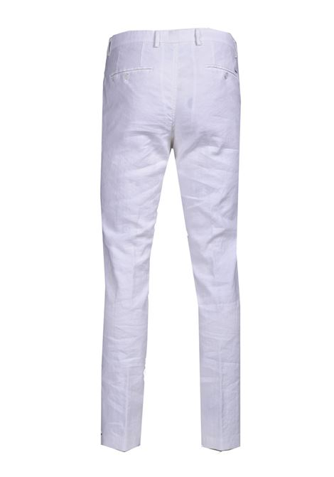 Slim fit cotton and linen trousers BOSS | Pants | 50450259100