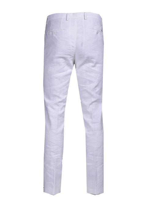 Pantaloni slim fit in cotone e lino BOSS | Pantaloni | 50450259100