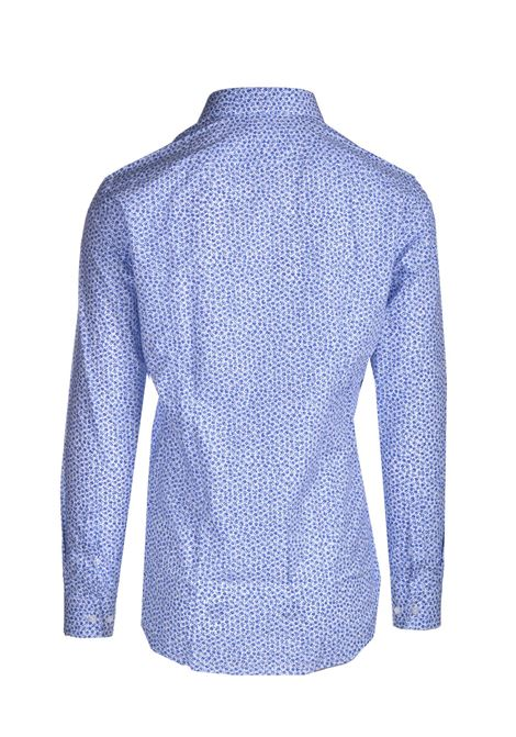 Slim fit shirt in micro-patterned cotton BOSS | Shirts | 50450306420