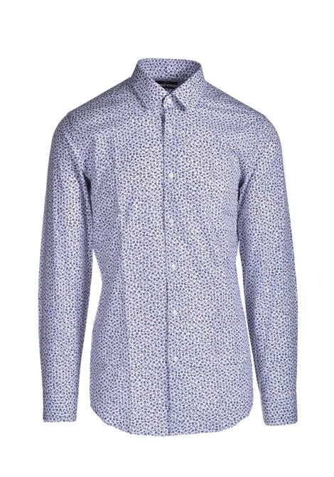 Slim fit shirt in micro-patterned cotton BOSS | Shirts | 50450306625