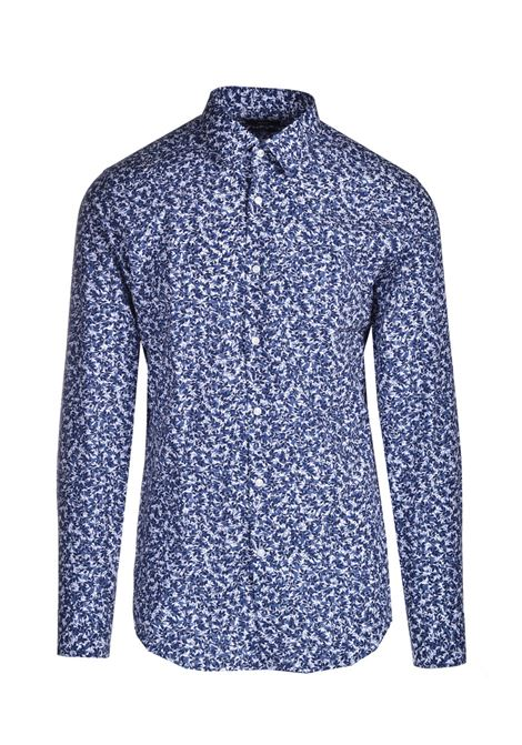 Slim fit shirt in micro-patterned cotton BOSS | Shirts | 50450310450