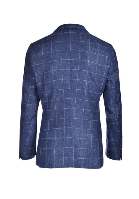 Slim fit jacket in virgin wool and pied de check linen BOSS | Blazers | 50450496489