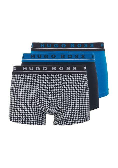Boxer in cotone elasticizzato con elastico in vita in confezione da tre BOSS | Intimo | 50451061990