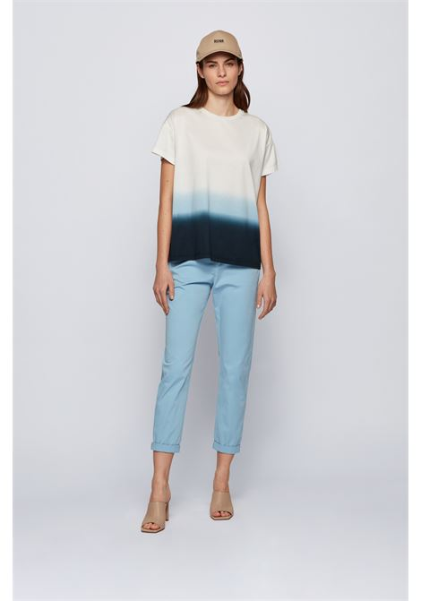 Relaxed fit dip-dyed T-shirt in cotton jersey BOSS | T-shirt | 50451188963