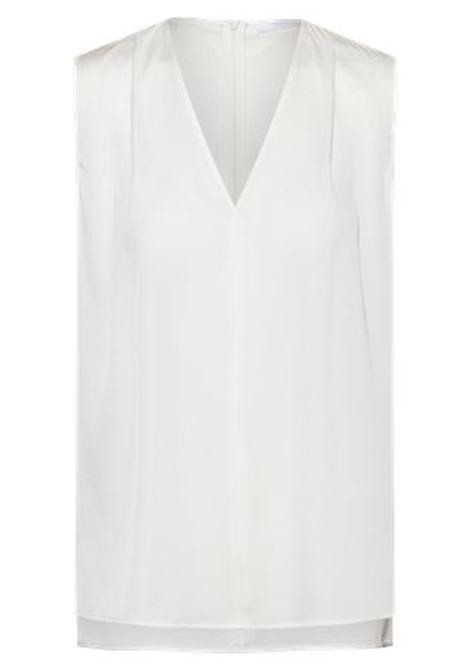 Blusa senza maniche in crêpe de chine con scollo a V BOSS | Tops | 50451281112