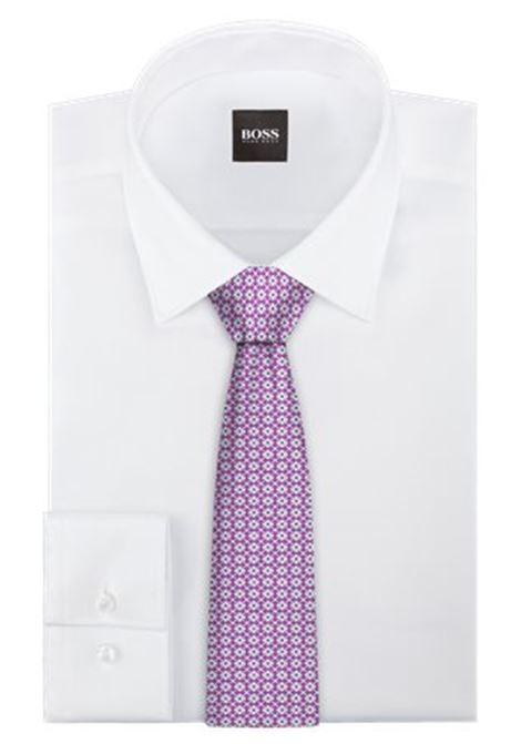 Micro-patterned jacquard silk tie BOSS | Ties | 50451729667