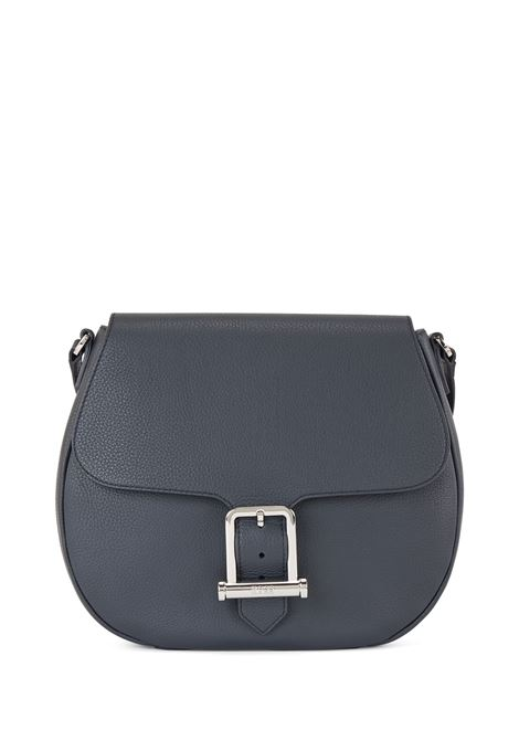 Borsa Saddle Boss in pelle martellata blu scuro con tracolla BOSS | Borse | 50451855401