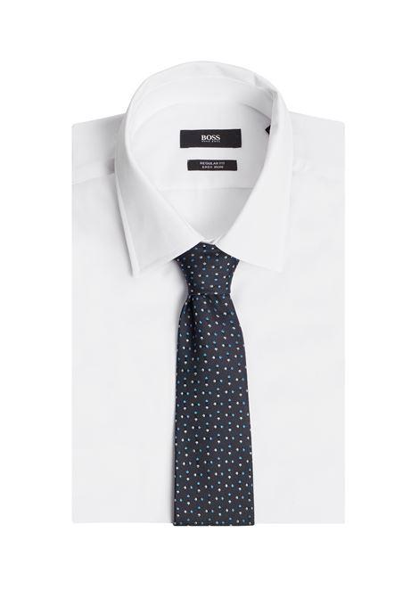 Traveler tie in jacquard silk with micro motif BOSS | Ties | 50451932402