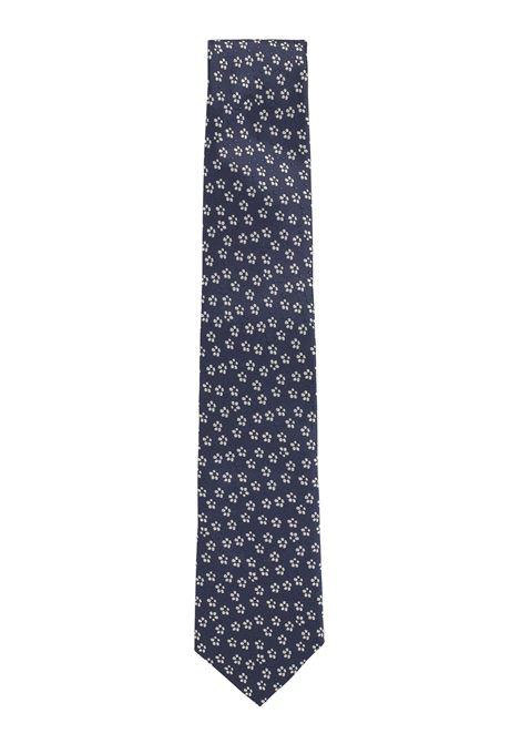 Traveler tie in jacquard silk with micro motif BOSS | Ties | 50451932406