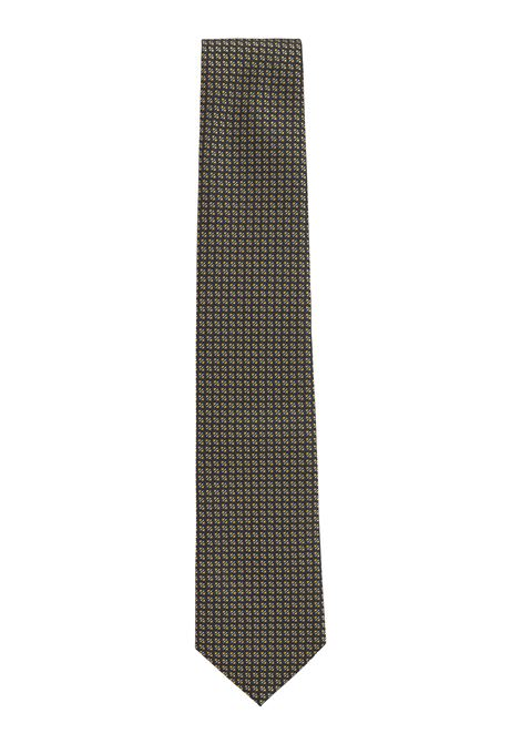 Traveler tie in jacquard silk with micro motif BOSS | Ties | 50451932737