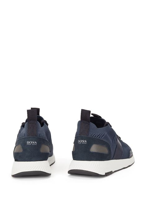 Sock sneakers con tomaia in maglia REPREVE® BOSS | Sneakers | 50452034401