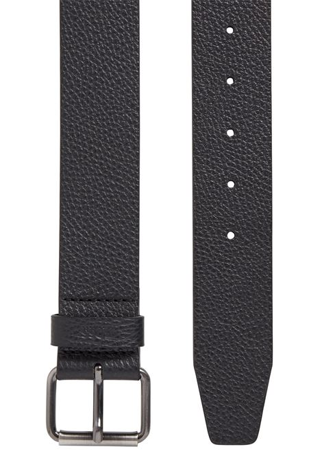 Italian hammered leather belt with roller buckle BOSS | Belts | 50452446001