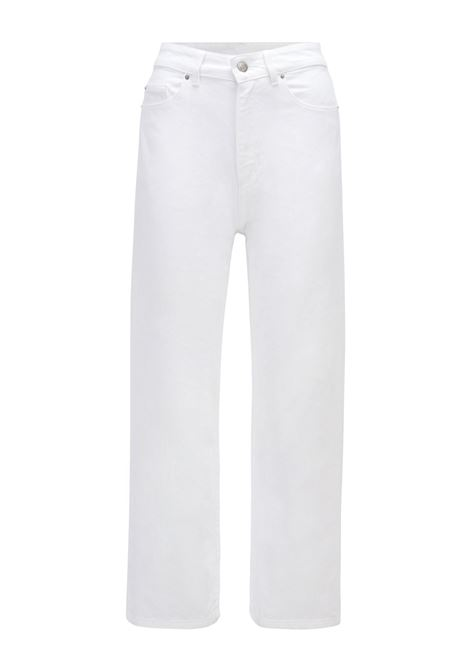 Relaxed fit wide leg jeans in pure cotton denim BOSS | Jeans | 50452925104