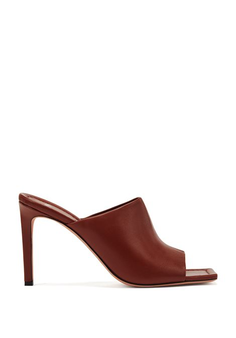 High-heeled mules in Italian leather BOSS | Sandals | 50453053224