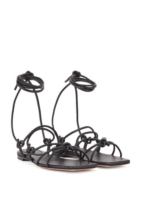 Flat nappa leather sandals with knotted straps BOSS | Sandals | 50453054001