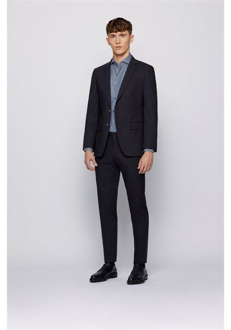 Slim-fit jacket in stretch cotton with contrast binding BOSS | Blazers | 50453186402