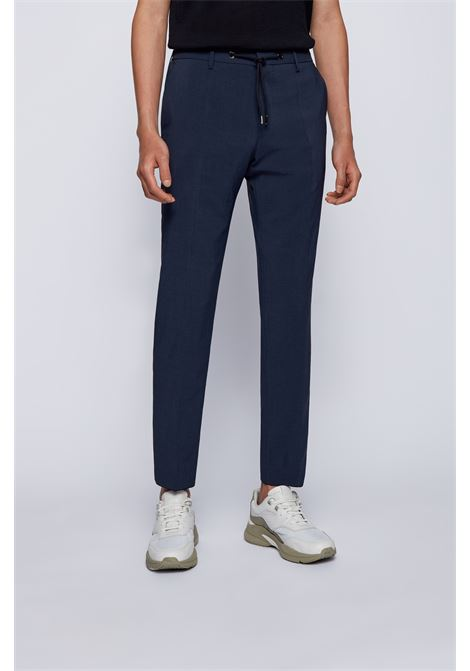 High-waisted slim fit twill trousers BOSS | Pants | 50454795497