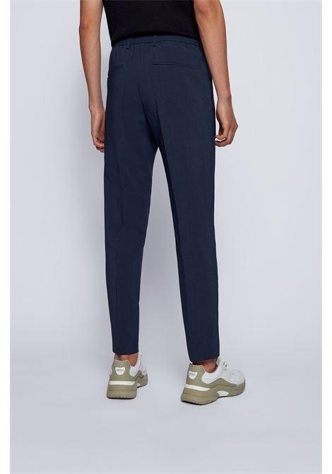 Pantaloni slim fit a vita alta in twill BOSS | Pantaloni | 50454795497