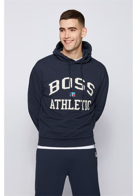 Relaxed fit unisex sweatshirt in organic cotton with exclusive logo BOSS | Sweatshirt | 50455995404