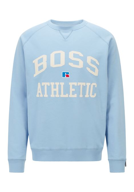 Relaxed fit unisex sweatshirt in organic cotton with exclusive logo BOSS | Sweatshirt | 50455995492