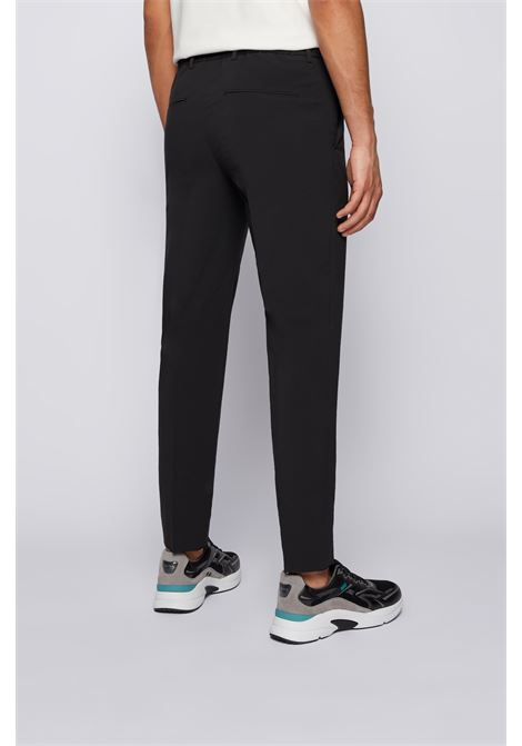 High-waisted slim fit twill trousers BOSS | Pants | 50456174001