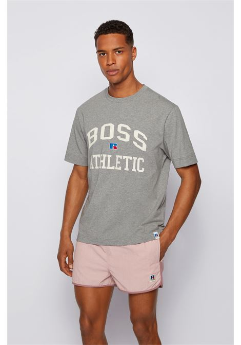 Relaxed fit unisex t-shirt in stretch cotton with exclusive logo BOSS | T-shirt | 50457336034