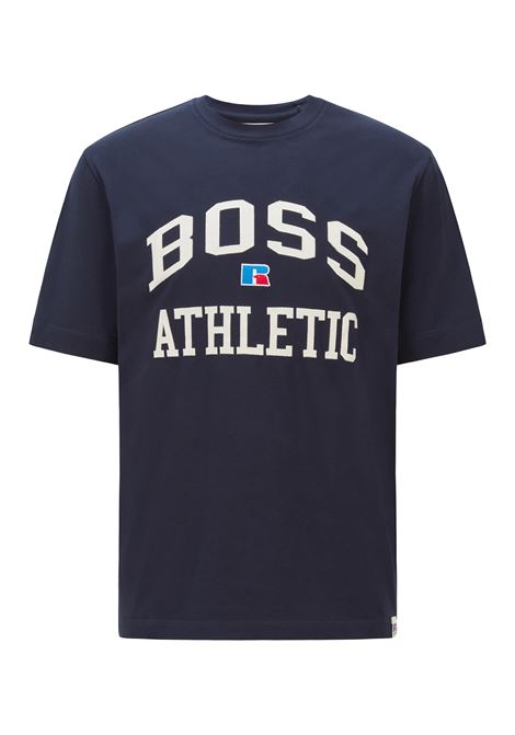 Relaxed fit unisex t-shirt in stretch cotton with exclusive logo BOSS | T-shirt | 50457336404