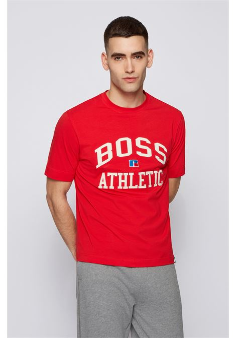 Relaxed fit unisex t-shirt in stretch cotton with exclusive logo BOSS | T-shirt | 50457336628