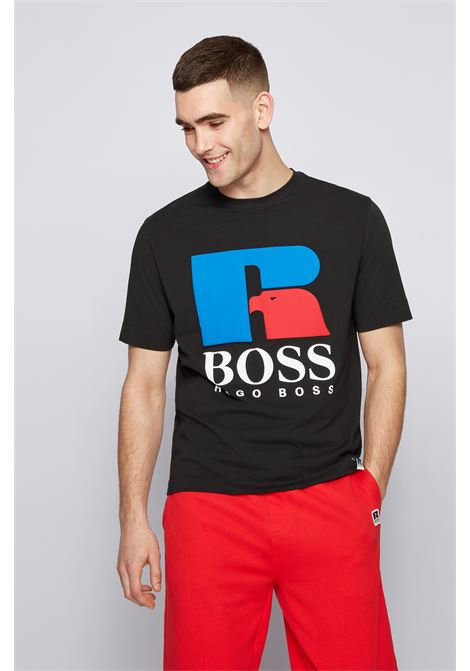 Relaxed fit unisex t-shirt in stretch cotton with exclusive logo BOSS | T-shirt | 50457636001