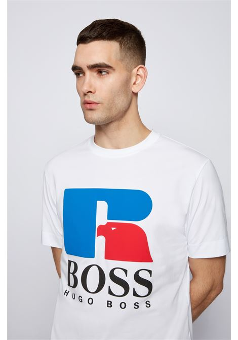 Relaxed fit unisex t-shirt in stretch cotton with exclusive logo BOSS | T-shirt | 50457636100