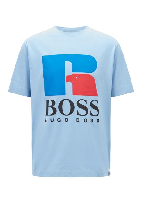 Relaxed fit unisex t-shirt in stretch cotton with exclusive logo BOSS | T-shirt | 50457636492