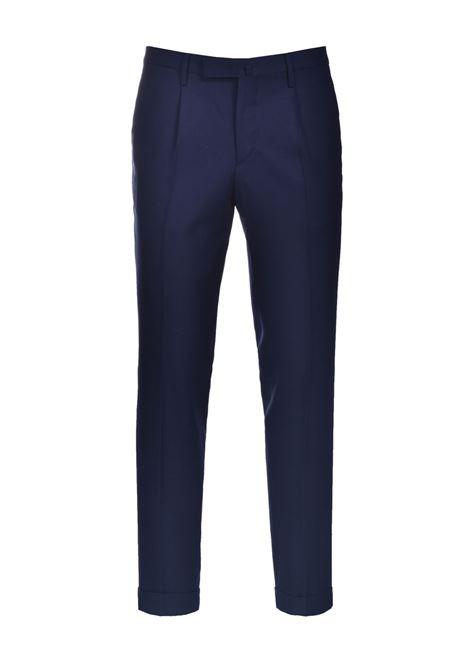 Pantalone in lana slim fit con risvolti BRIGLIA | Pantaloni | BG21W 32112111