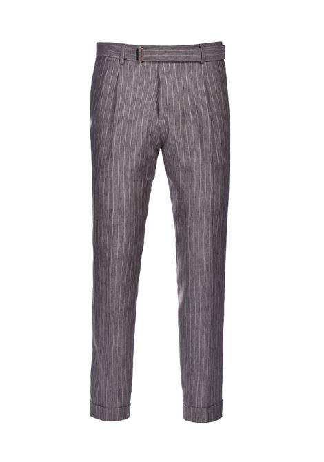 Pure linen pinstripe trousers BRIGLIA | Pants | BRERAS 32111944