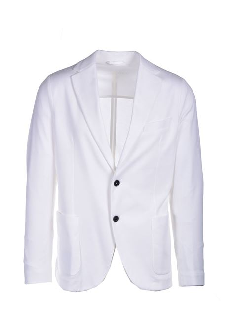 Two-button blazer in white cotton pique CIRCOLO 1901 | Blazers | CN2965LATTE