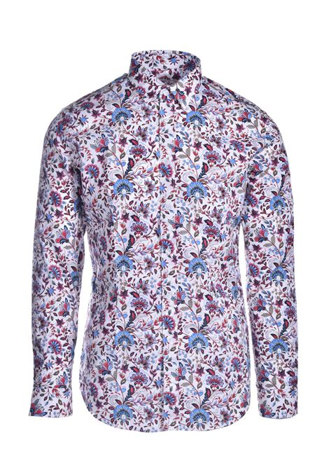 Patterned poplin shirt DANIELE ALESSANDRINI | Shirts | C1507B139041002