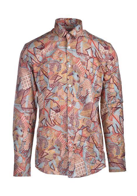 Ethnic patterned poplin shirt DANIELE ALESSANDRINI | Shirts | C1512B13944100109