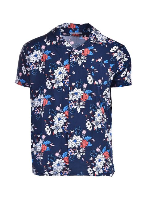 Floral patterned crepe shirt DANIELE ALESSANDRINI | Shirts | C1708B1386410023