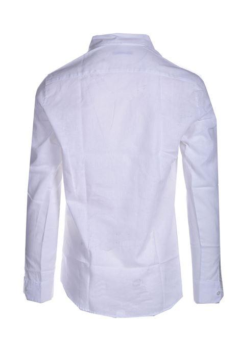 White cotton and linen polo shirt DANIELE ALESSANDRINI | Shirts | C1715B118441002