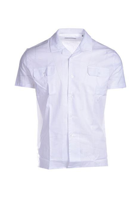 White cotton short-sleeved shirt DANIELE ALESSANDRINI | Shirts | C1792B75141002