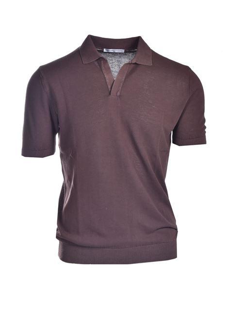 Velvet-effect cotton polo shirt DANIELE ALESSANDRINI | Knitwear | FM90757410020