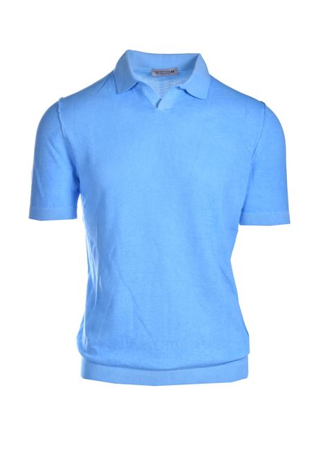 Terry-effect cotton polo shirt DANIELE ALESSANDRINI | Knitwear | FM90768410221
