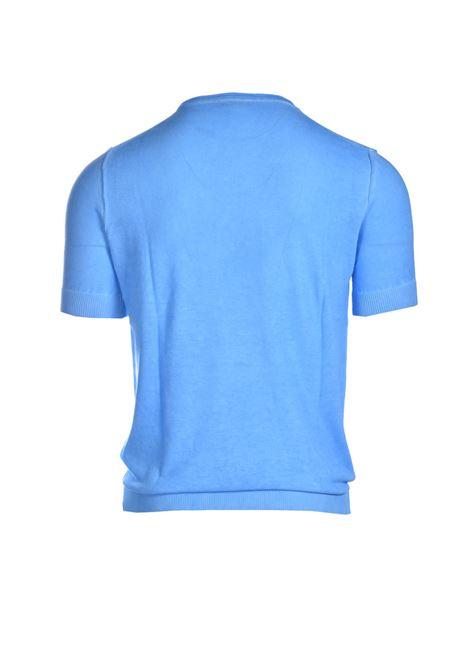 Terry-effect cotton crewneck sweater DANIELE ALESSANDRINI | Knitwear | FM90770410221