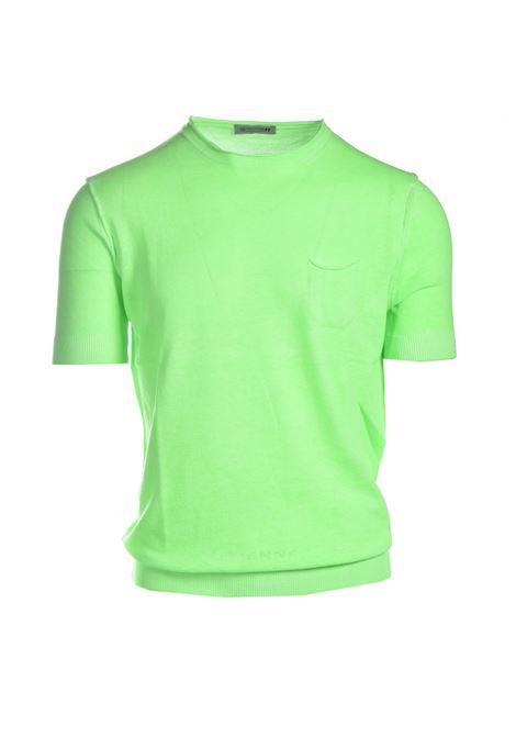 Terry-effect cotton crewneck sweater DANIELE ALESSANDRINI | Knitwear | FM90770410298