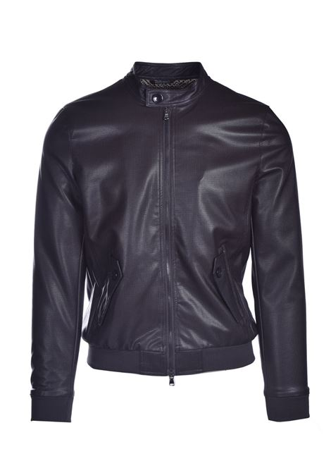 Faux leather jacket with placket DANIELE ALESSANDRINI | Jackets | I8144410034