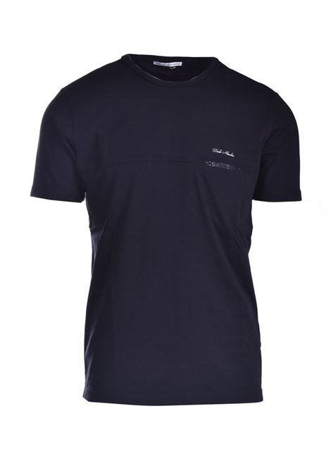 T-shirt with pocket in polka dots DANIELE ALESSANDRINI | T-shirt | M7222E64341001