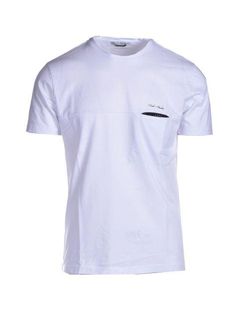 T-shirt with pocket in polka dots DANIELE ALESSANDRINI | T-shirt | M7222E64341002