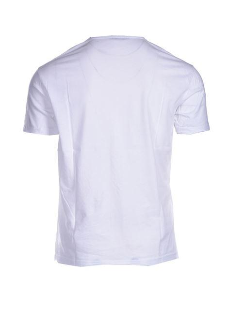 T-shirt con taglio vivo e scollo a V DANIELE ALESSANDRINI | T-shirt | M7319E64341022
