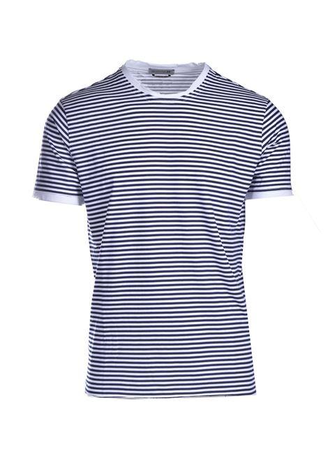 T-shirt  in cotone a righe DANIELE ALESSANDRINI | T-shirt | M7351E803410223