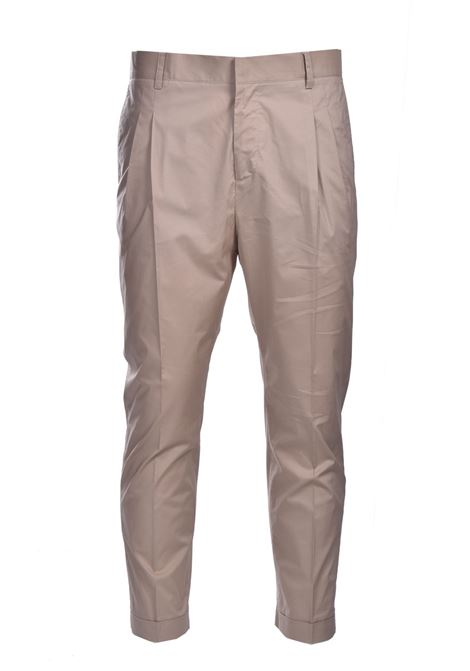 Poplin baggy trousers with pence DANIELE ALESSANDRINI | Pants | P3975N1006410015
