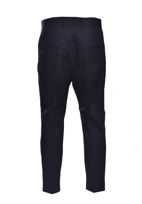 Pantaloni baggy in popeline con pence DANIELE ALESSANDRINI | Pantaloni | P3975N100641001